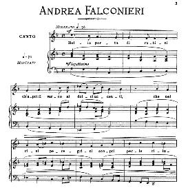 Bella porta di rubini, Low Voice in F Major, A.Falconieri. For Contralto, Bass, Countertenor. From: Arie Antiche (Parisotti) -3-Ricordi (1889) | eBooks | Sheet Music