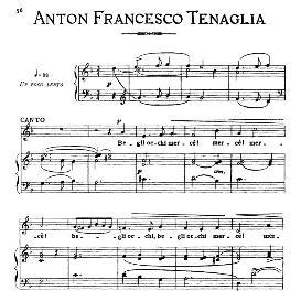 Belli occhi mercè! Medium-low Voice in D Minor, A.F.Tenaglia. For Mezzo, Baritone. From: Arie Antiche (Parisotti) -3-Ricordi (1889) | eBooks | Sheet Music