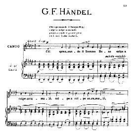 Chi sprezzando il sommo bene, Medium Voice in E Flat Major, G.F.Haendel. For Mezzo, Baritone. From: Arie Antiche (Parisotti) -3-Ricordi (1889) | eBooks | Sheet Music