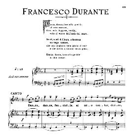 Danza,danza,fanciulla Medium Voice in B Flat Minor, F.Durante. For Mezzo, Baritone. From: Arie Antiche (Parisotti) -2-Ricordi (1889) | eBooks | Sheet Music