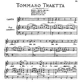 Dovrei, dovrei...ma no, Medium Voice in F Major, T.Traetta. For Mezzo, Baritone. From: Arie Antiche (Parisotti) -3-Ricordi (1898) | eBooks | Sheet Music