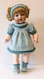 doll knitting pattern - v001-teal & aqua
