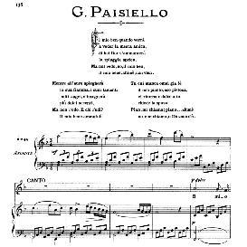Il mio ben quando verrà, High Voice in F Major, G.Paisiello. For Soprano, Mezzo. From: Arie Antiche (Parisotti) -1-Ricordi (1885) | eBooks | Sheet Music