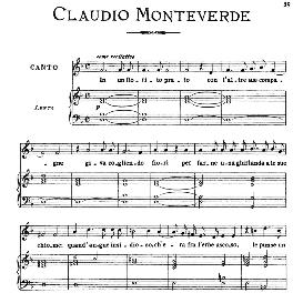 In un fiorito prato, Medium-Low Voice in D Minor, C.Monteverdi. For Mezzo, Baritone. From: Arie Antiche (Parisotti) -3-Ricordi (1898) | eBooks | Sheet Music