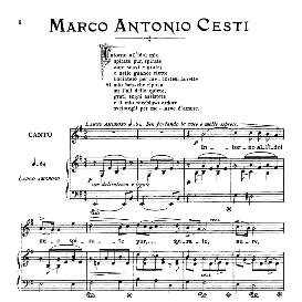 Intorno all' idol  mio, Medium-Low Voice in E Minor,M.A.Cesti. For Mezzo, Baritone. From: Arie Antiche (Parisotti) -1-Ricordi (1885) | eBooks | Sheet Music