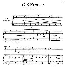 Lungi,lungi,amor,da me, Medium Voice in F Major, G.B.Fasolo. For Mezzo, Baritone. From: Arie Antiche (Parisotti) -3-Ricordi (1898) | eBooks | Sheet Music