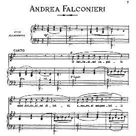 O bellisimi cappelli, Medium Voice in G Minor, A.Falconieri. For Dramatic Soprano, Mezzo, Baritone. From: Arie Antiche (Parisotti) -3-Ricordi (1898) | eBooks | Sheet Music