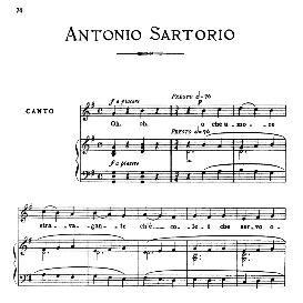 O che umore stravagante, Medium-low Voice in G Major, A.Sartorio. For Mezzo, Baritone. From: Arie Antiche (Parisotti) -3-Ricordi (1898 | eBooks | Sheet Music