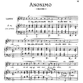 O leggiadri occhi belli, Low Voice in A Flat Major, Anonimo. For Contralto, Bass, Countertenor; From: Arie Antiche (Parisotti) -3-Ricordi (1898 | eBooks | Sheet Music