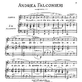 Occhietti amati, Medium Voice in F Major, A.Falconieri. For Mezzo, Baritone. From: Arie Antiche (Parisotti) -3-Ricordi (1898) | eBooks | Sheet Music