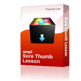 sore thumb lesson