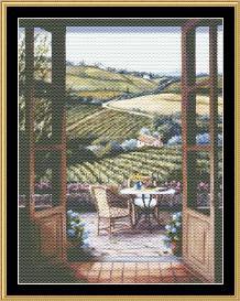 tea in the garden collection - balcony view