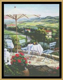tea in the garden collection - balcony overlooking vineyard