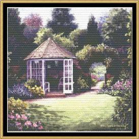 english garden collection - tea in gazebo