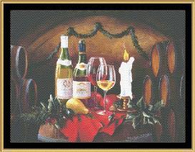 still life series - holly & wine