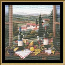 still life series - wine on the window
