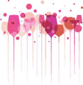wine glasses & bubbles machine embroidery file