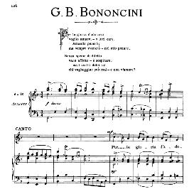 Per la gloria d'adorarvi, Medium Voice in F Major, G.M.Bononcini. For Mezzo, Baritone, Soprano, Tenor. from: Arie Antiche (Parisotti) -2-Ricordi (1889) | eBooks | Sheet Music