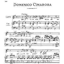 Quel soave e bel diletto, High Voice in G Major, D.Cimarosa. For Soprano, Tenor. From: Arie Antiche (Parisotti) -3-Ricordi (1898) | eBooks | Sheet Music
