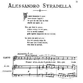 Se amor m'annoda il piede, Medium Voice in B Flat Major, A.Stradella. For Mezzo, Baritone. From: Arie Antiche (Parisotti) -2-Ricordi (1889 | eBooks | Sheet Music