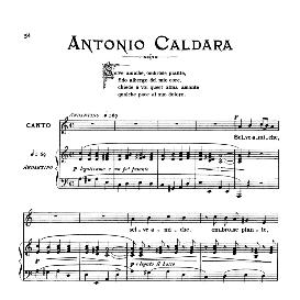 Selve amiche, Medium Voice in A Minor, A.Caldara, Ed. Ricordi | eBooks | Sheet Music