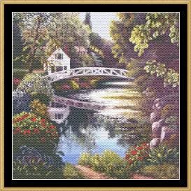 english garden collection - bridge reflections