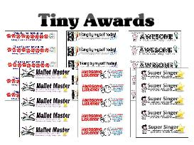 Tiny Awards for Music Classrooms