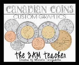 canadian coins clipart set