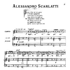 Spesso vibra per suo gioco, Low Voice  in A Minor, A.Scarlatti, Ed. Ricordi | eBooks | Sheet Music