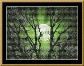 new moon series -green moon