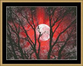new moon series - red moon ii