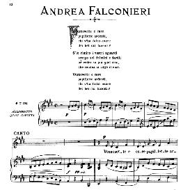 Vezzosette e care, Medium-Low Voice in E Major, A.Falconieri. Ed. RIcordi | eBooks | Sheet Music