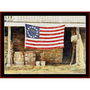 American Flag - Americana cross stitch pattern by Cross Stitch Collectibles | Crafting | Cross-Stitch | Wall Hangings