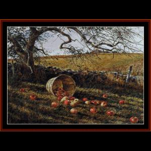 Apple Basket - Americana cross stitch pattern by Cross Stitch Collectibles | Crafting | Cross-Stitch | Wall Hangings