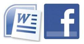 word 2 facebook (office app sends content to facebook as status updates)