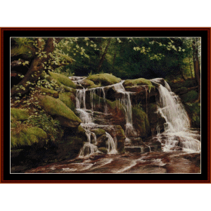 Buttermilk Falls - Americana cross stitch pattern by Cross Stitch Collectibles | Crafting | Cross-Stitch | Wall Hangings