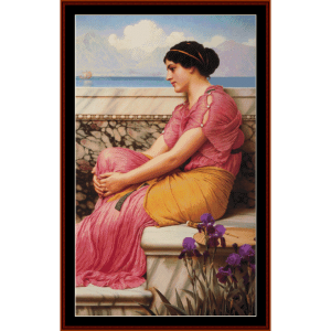 Absence Makes the Heart Grown Fonder - Alma Tadema cross stitch pattern by Cross Stitch Collectibles | Crafting | Cross-Stitch | Wall Hangings
