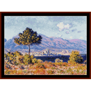 View of Antibes - Monet cross stitch pattern by Cross Stitch Collectibles | Crafting | Cross-Stitch | Wall Hangings