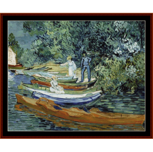 Bank of the Oise at Auvers - Van Gogh cross stitch pattern by Cross Stitch Collectibles | Crafting | Cross-Stitch | Wall Hangings