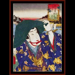 Ukiyo-e 10 - Asian Art cross stitch pattern by Cross Stitch Collectibles | Crafting | Cross-Stitch | Wall Hangings