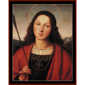 St. Sebastian - Raphael cross stitch pattern by Cross Stitch Collectibles | Crafting | Cross-Stitch | Wall Hangings