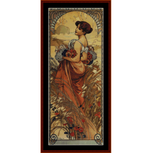 Summer, 1903 - Mucha cross stitch pattern by Cross Stitch Collectibles | Crafting | Cross-Stitch | Wall Hangings