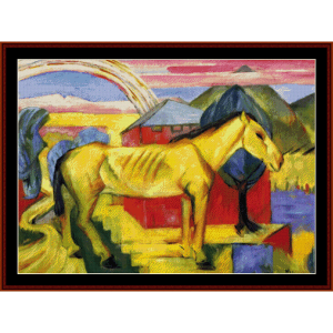 Long Yellow Horse - Marc cross stitch pattern by Cross Stitch Collectibles | Crafting | Cross-Stitch | Wall Hangings