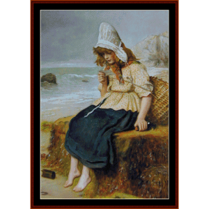 message from the sea - millais cross stitch pattern by cross stitch collectibles