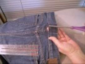 fitted jeans waist video sewing tutorial
