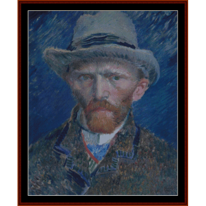 Self Portrait - Van Gogh cross stitch pattern by Cross Stitch Collectibles | Crafting | Cross-Stitch | Wall Hangings