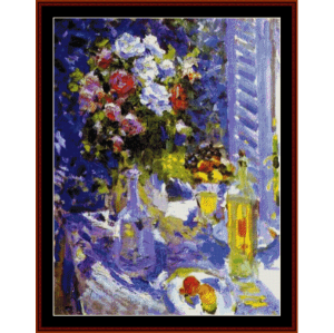 Flowers and Fruit - Korovin cross stitch pattern by Cross Stitch Collectibles | Crafting | Cross-Stitch | Wall Hangings