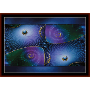 fractal 381cross stitch pattern by cross stitch collectibles