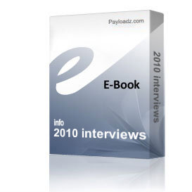 2010 interviews