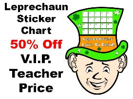 leprechaun reading sticker chart 50% off